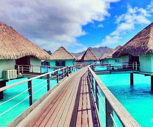 summer, bora bora, and Houses image