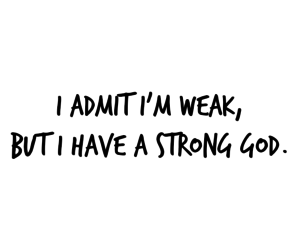 god and strong image