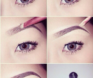 eyebrows, makeup, and simple image
