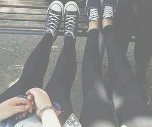 grunge, sneakers, and friends image