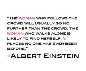 quotes, woman, and Albert Einstein image