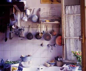 decor, kitchen, and flowers image