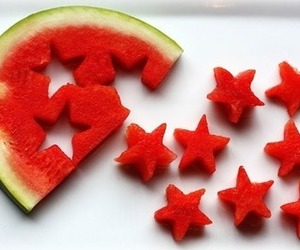 fruit, stars, and watermelon image