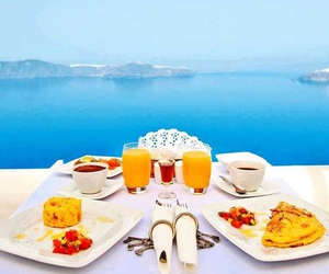 breakfast, summer, and sea image