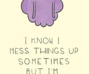 adventure time, quote, and sad image