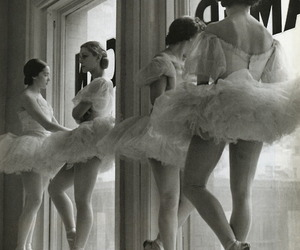 ballet, black and white, and Dream image