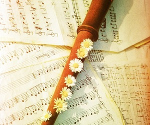 compose, flower, and flute image