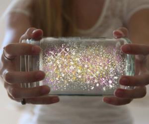 glitter, magic, and jar image