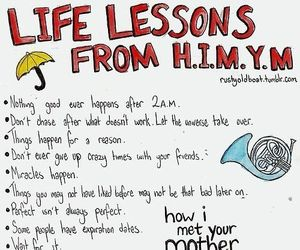 himym, how i met your mother, and life image
