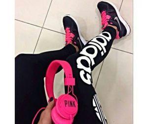 adidas, pink, and nike image