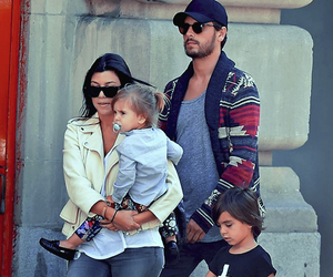 kourtney kardashian, family, and scott disick image