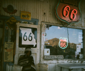 route 66 and vintage image