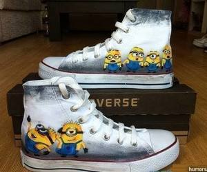 minions, converse, and shoes image