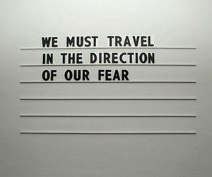 fear, quotes, and travel image