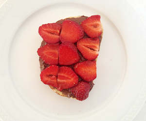 my photo, nutella, and strawberry image