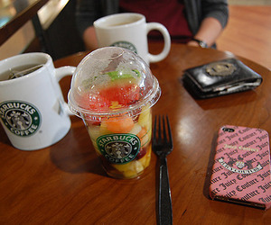 starbucks, fruit, and juicy couture image