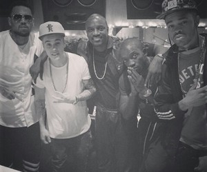 black and white, belieber, and chilling image