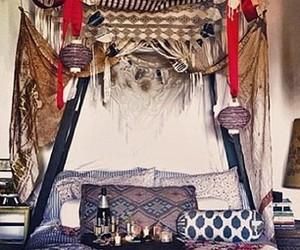 bedroom, boho, and gypsy image