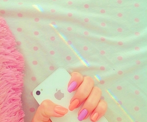 nails, pink, and rosy image