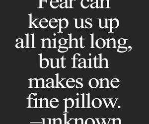 quote, fear, and faith image