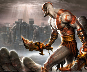 game, god of war, and playstation image