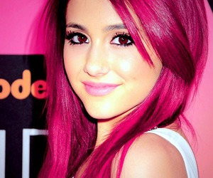 ariana grande, hair, and pink image