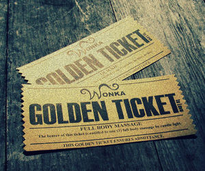 wonka, chocolate, and golden ticket image