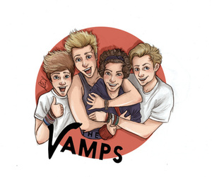 the vamps, drawing, and music image