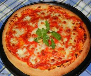 food, meal, and pizza image
