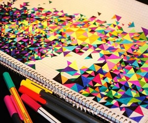 art, colorful, and draw image