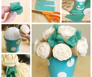 cupcake and bouquet image