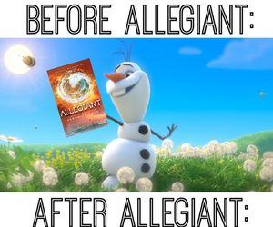 allegiant, divergent, and book image