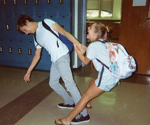 love, couple, and school image