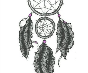 dreamcatcher, feathers, and sweet dreams image