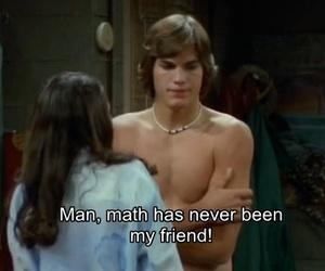ashton kutcher, awesome, and math image