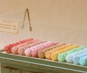 food, macarons, and miniature image