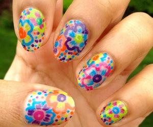 flirty, nail art, and summer image