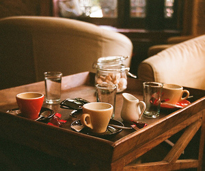 cup, coffee, and glass image