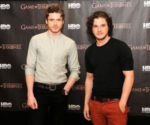 richard madden, jon snow, and game of thrones image
