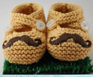 babies, baby, and mustache image