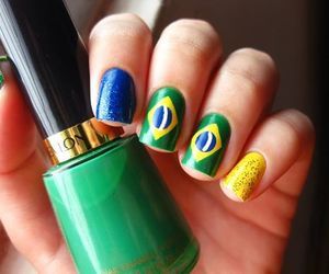 world cup, brazil, and nails image