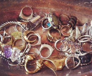 rings, vintage, and boho image