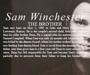 sam winchester, supernatural, and brother image