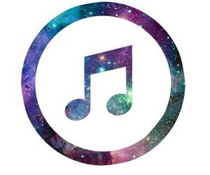 music, overlay, and galaxy image