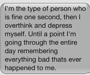 quote, sad, and depressed image