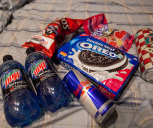 oreo, food, and red bull image