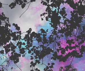 wallpaper, sky, and purple image