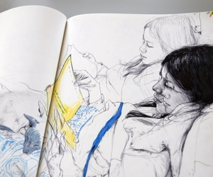 figure drawing, James Jean, and sketchbook image