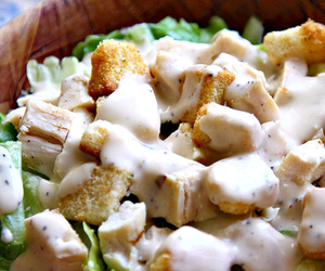 food, salad, and Chicken image