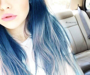 hair, blue, and acacia image
